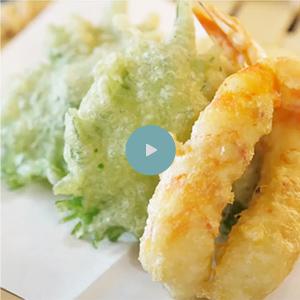 炭酸水でさくさく天ぷら